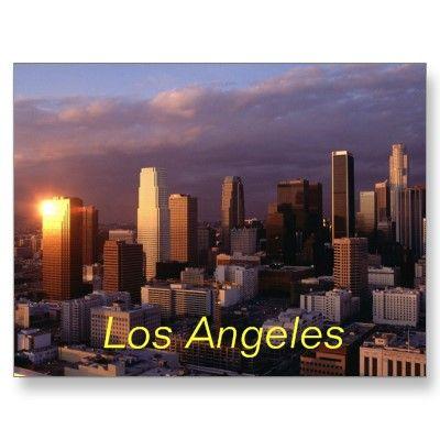 Los Angeles Postcard Zazzle Com In 2020 Los Angeles Wallpaper Los Angeles Hotels Los Angeles Skyline