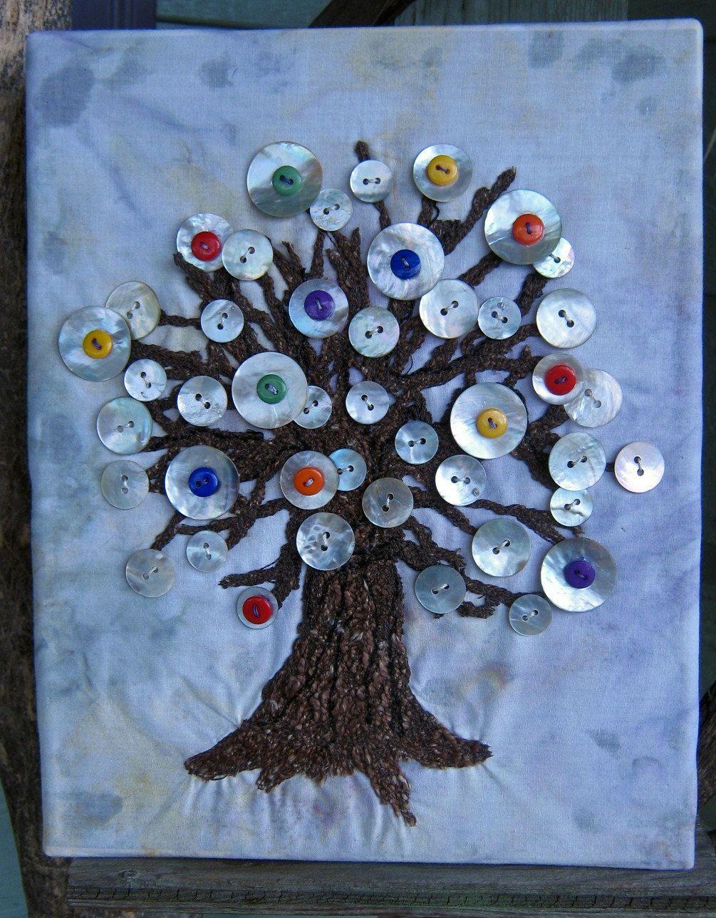 открытка дерево из пуговиц своими вечером для