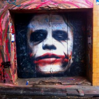RIP Heath Ledger, a talented actor gone far too soon... Melbourne street art. Melbourne graffiti.