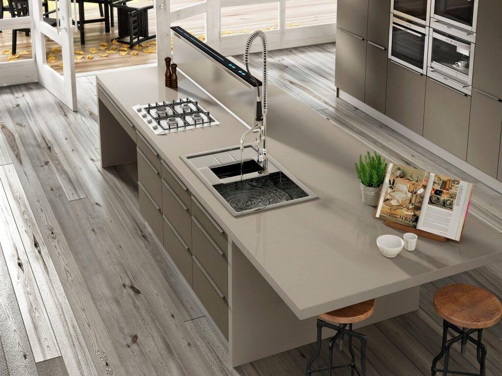 Arbeitsplatte Kuche Quarz Oder Granit Silestone Kitchen Quartz Kitchen Countertops Modern Kitchen