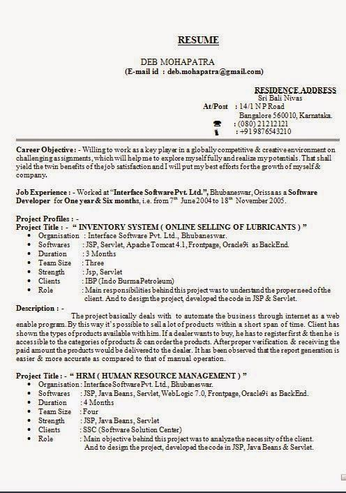 formats for resume sample template example of excellentcv    resume    curriculum vitae with