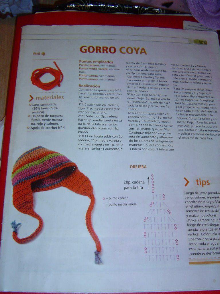 Crochet- Gorro para niño. Patrón   Gorros crochet   Pinterest   Para ...