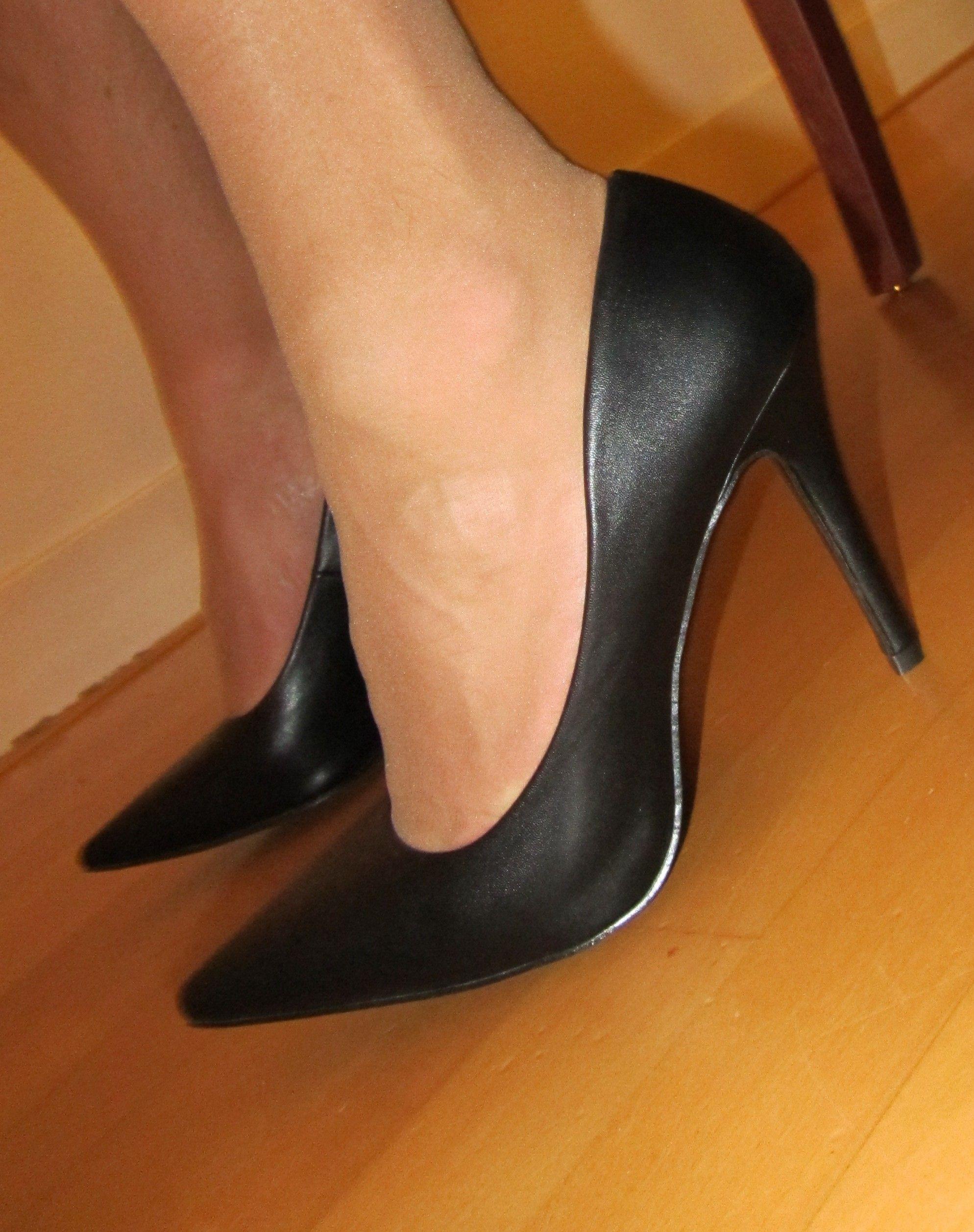 0f426566b16 My black high heel pumps. #black #pumps #high #heels #heel ...