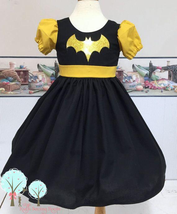 Super Hero Dress, Batman Dress, Batman Costume, Batman
