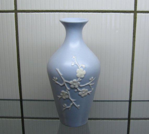 Vintage 30s Copeland Spode Blue Bud Vase 6 Geisha By Nanberrysoda