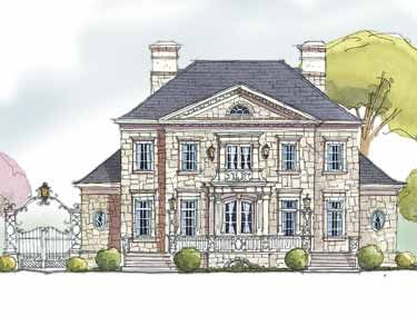 An english manor home hwbdo13910 french country house for Builderhouseplans com