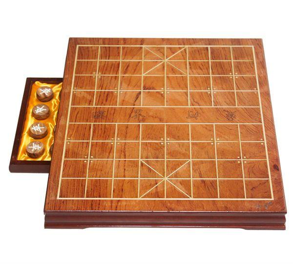 Antiguo chino juego de ajedrez de madera pedazos de ajedrez chino con personalizada hechos a mano plegable tablero de ajedrez