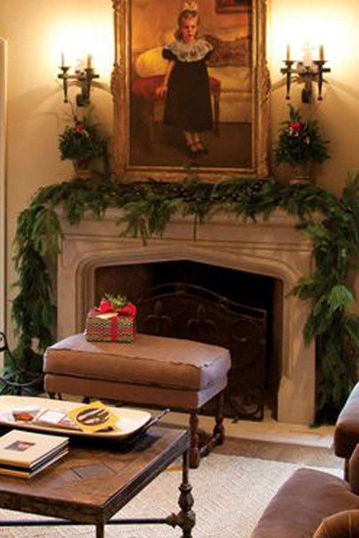 what a beautiful fireplace for christmas holiday decorating