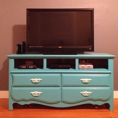 Wish I Had A Before Photo My Old Dresser Turned Tv Stand Took