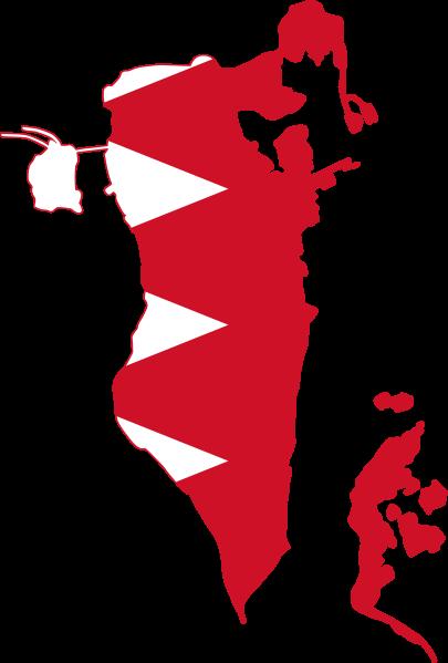 File Flag Map Of Bahrain Svg Bahrain Flag Bahrain Map Middle East Map