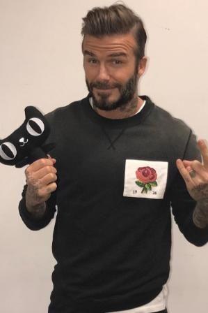 3d5fff97 David Beckham wearing Kent and Curwen English Rose Shirt | david ...