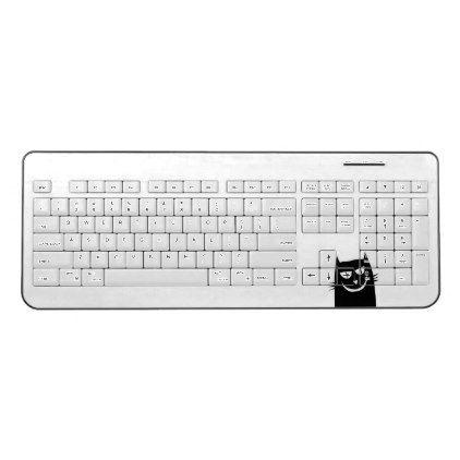Clipart Black Cat On White Keyboard Wireless Keyboard Kids Kid Child Gift Idea Diy Personalize Design Keyboard Girly Gifts Classy Gift