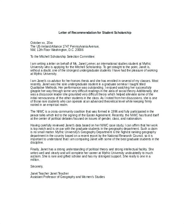 Reference Letter Template For Chevening Scholarship
