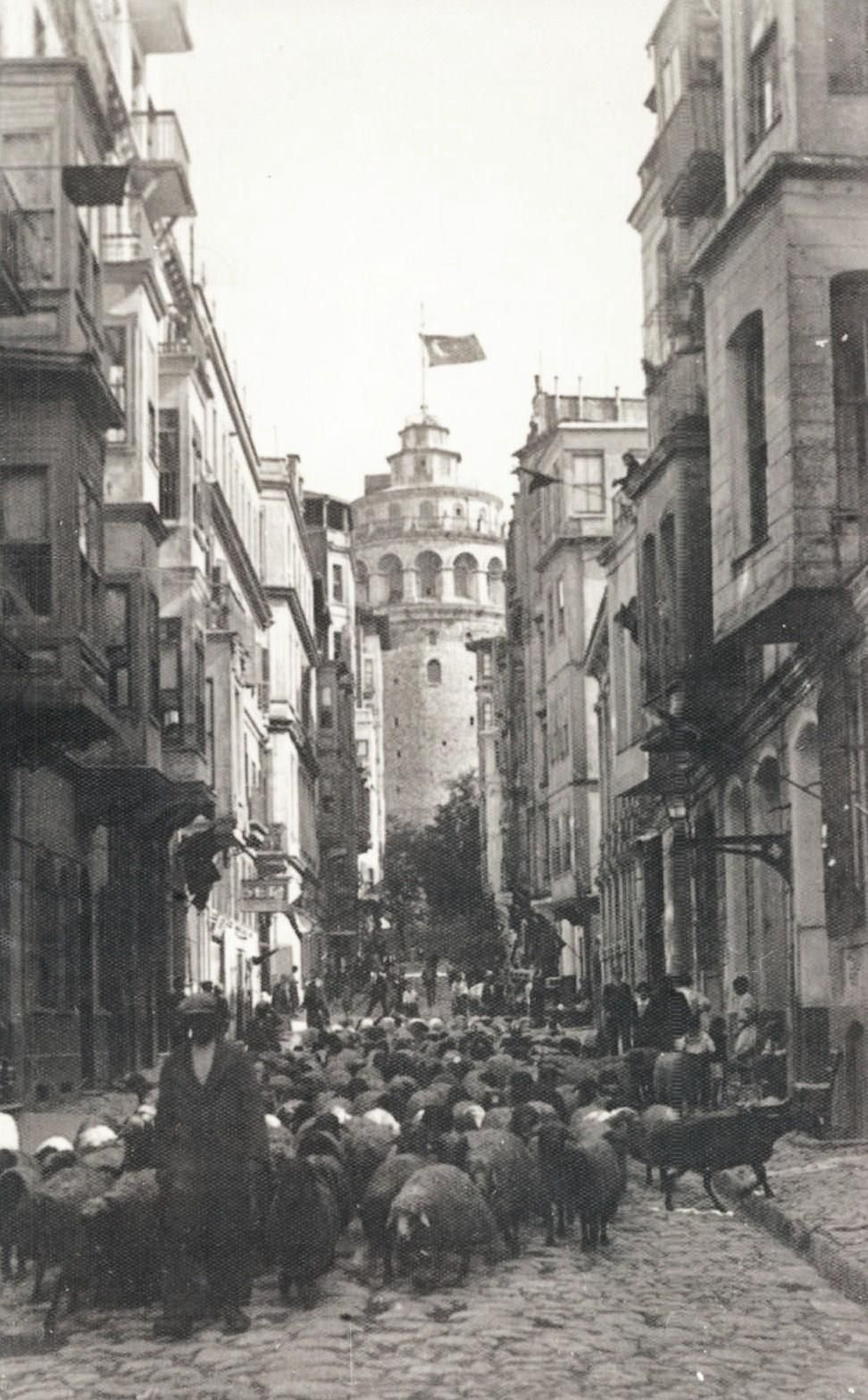 eski istanbul fotograflari arsivi galata kulesi istanbul fotograf resimler