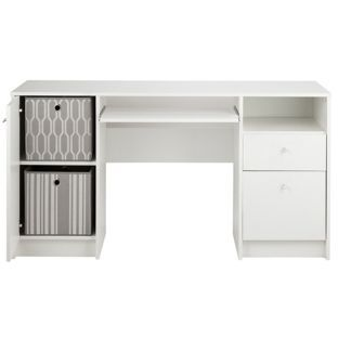 Buy Calgary Double Pedestal Desk With Filer White At Argos Co Uk Your Online Shop For Desks A White Desk Office Argos Home White Office Furniture