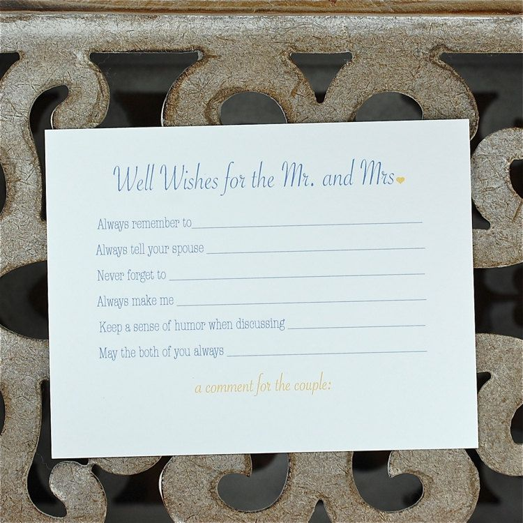 bridal shower activity well wishes cards advice cards wedding advice cards bridal shower wishes well wishes for mr and mrs 2600 via etsy
