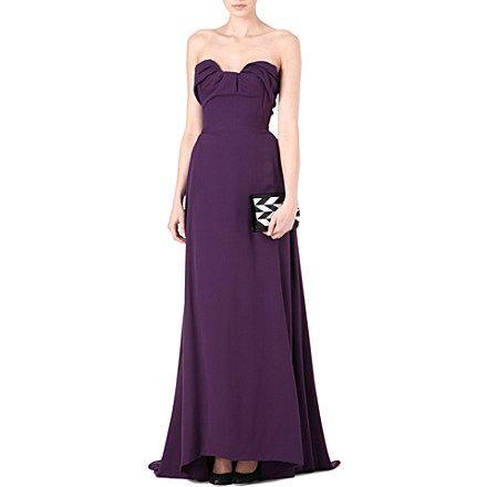 VIVIENNE WESTWOOD Ruffle-front gown (Purple