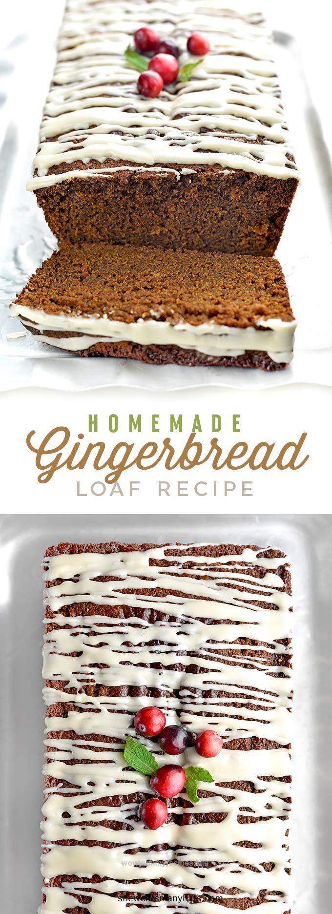 Homemade Gingerbread Loaf Recipe Gingerbread loaf recipe