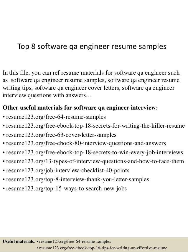 Cv Template Qa Engineer Cvtemplate