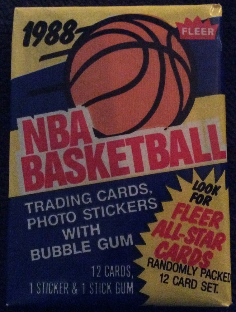 1988 fleer basketball wax pack from a bbce authenticated