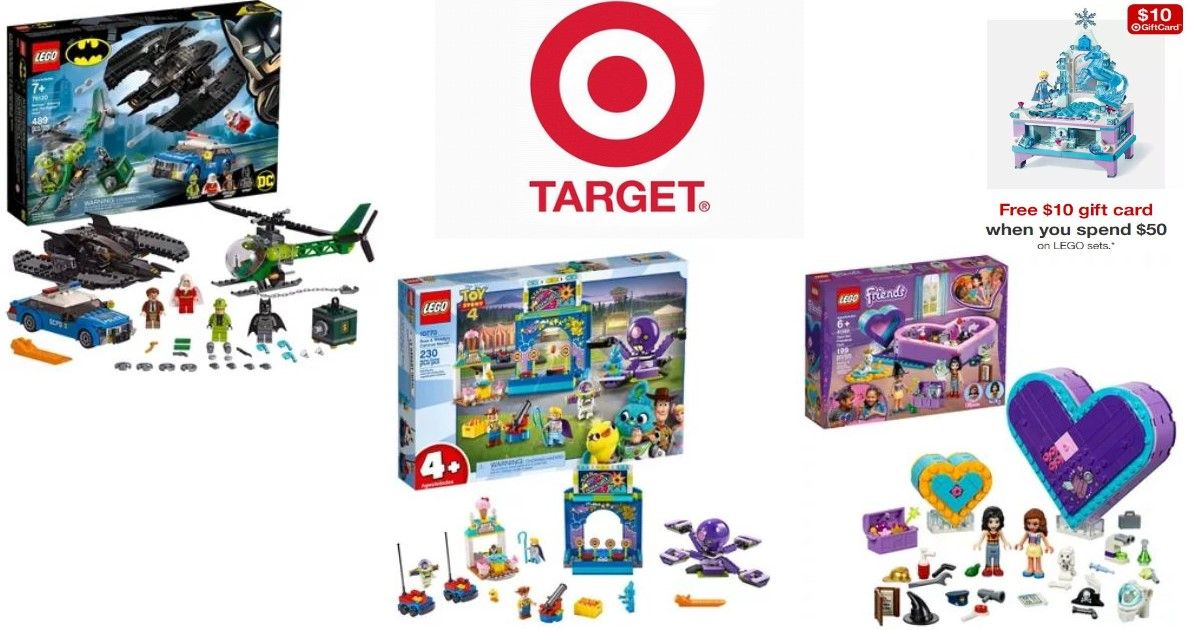 Free 10 gift card when you spend 50 on select lego sets