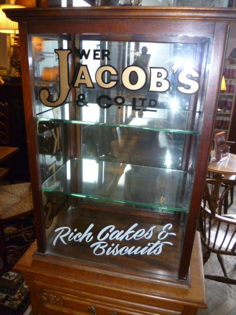 ANTIQUE CAKE & BISCUIT SHOP DISPLAY CABINET - ANTIQUE CAKE & BISCUIT SHOP DISPLAY CABINET Kitchen Ware Antiques