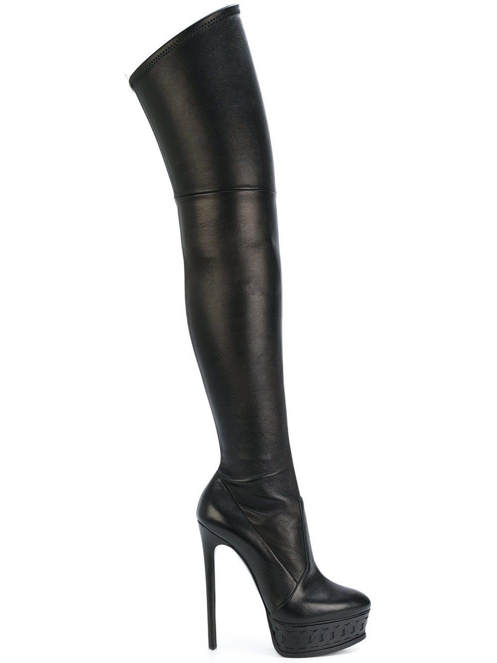 fb340a131da Casadei botas de plataforma por encima de la rodilla
