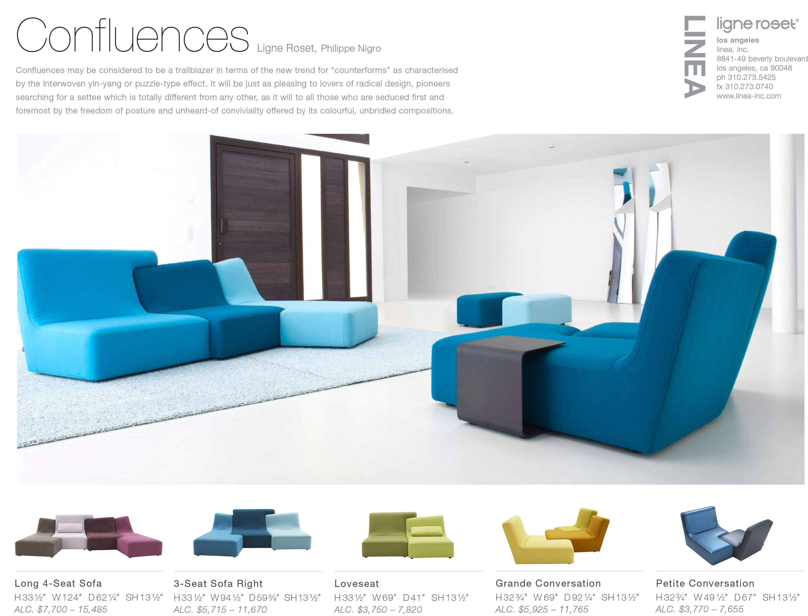Confluences sofa set by Ligne Roset Linea Prices range from