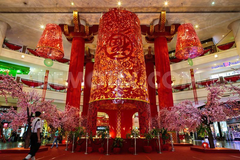 shopping mall lunar new year decoration t m v i google lunar new year decoration pinterest. Black Bedroom Furniture Sets. Home Design Ideas