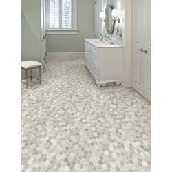Sheet vinyl that looks like varigated hex tiles rich for Linoleum flooring near me