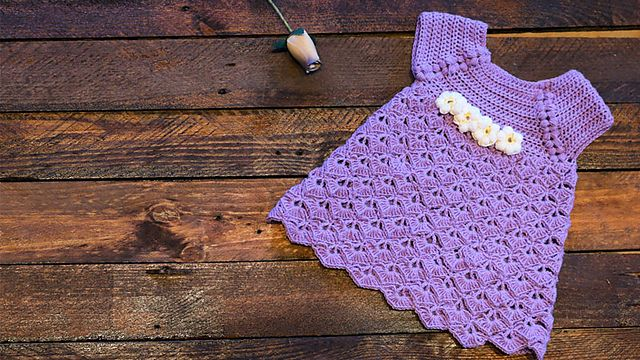 Ravelry: Purple Baby Dress pattern by Lanasyovillos official