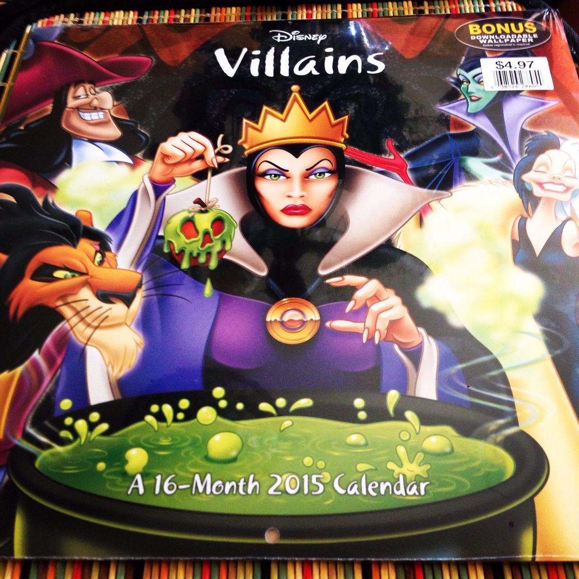 Disney Villians 2015 Calendar