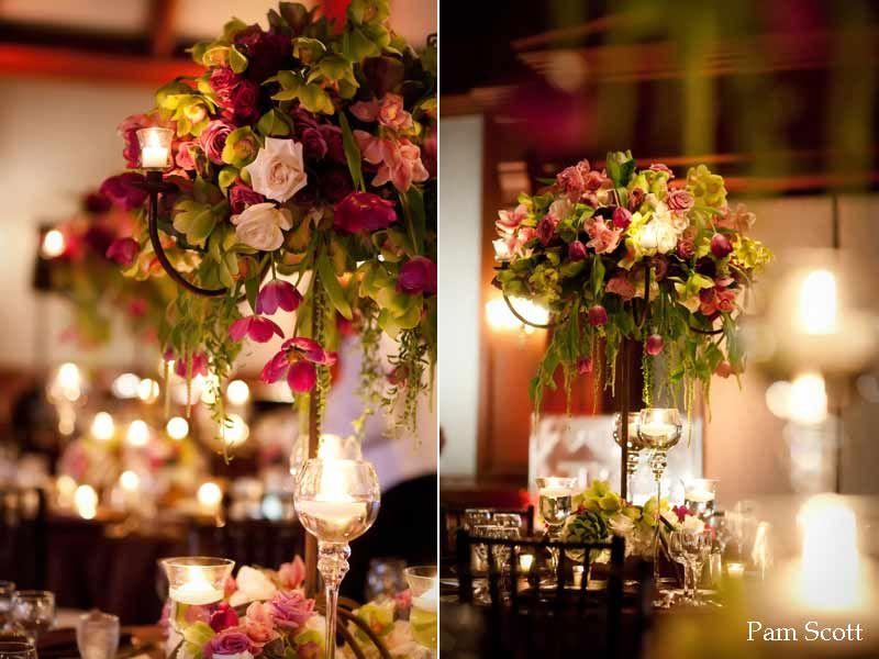 Wedding Candelabra Centerpieces With Rustic Elegance At The Hotel Del Coronado Coronet Ballroom