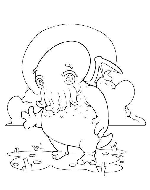 Cthulhu coloring page Cthulhu | Cthulhu | Pinterest