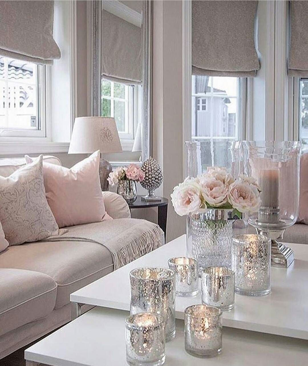 Muted Pink Grey Tones In The Home Remain A Popular