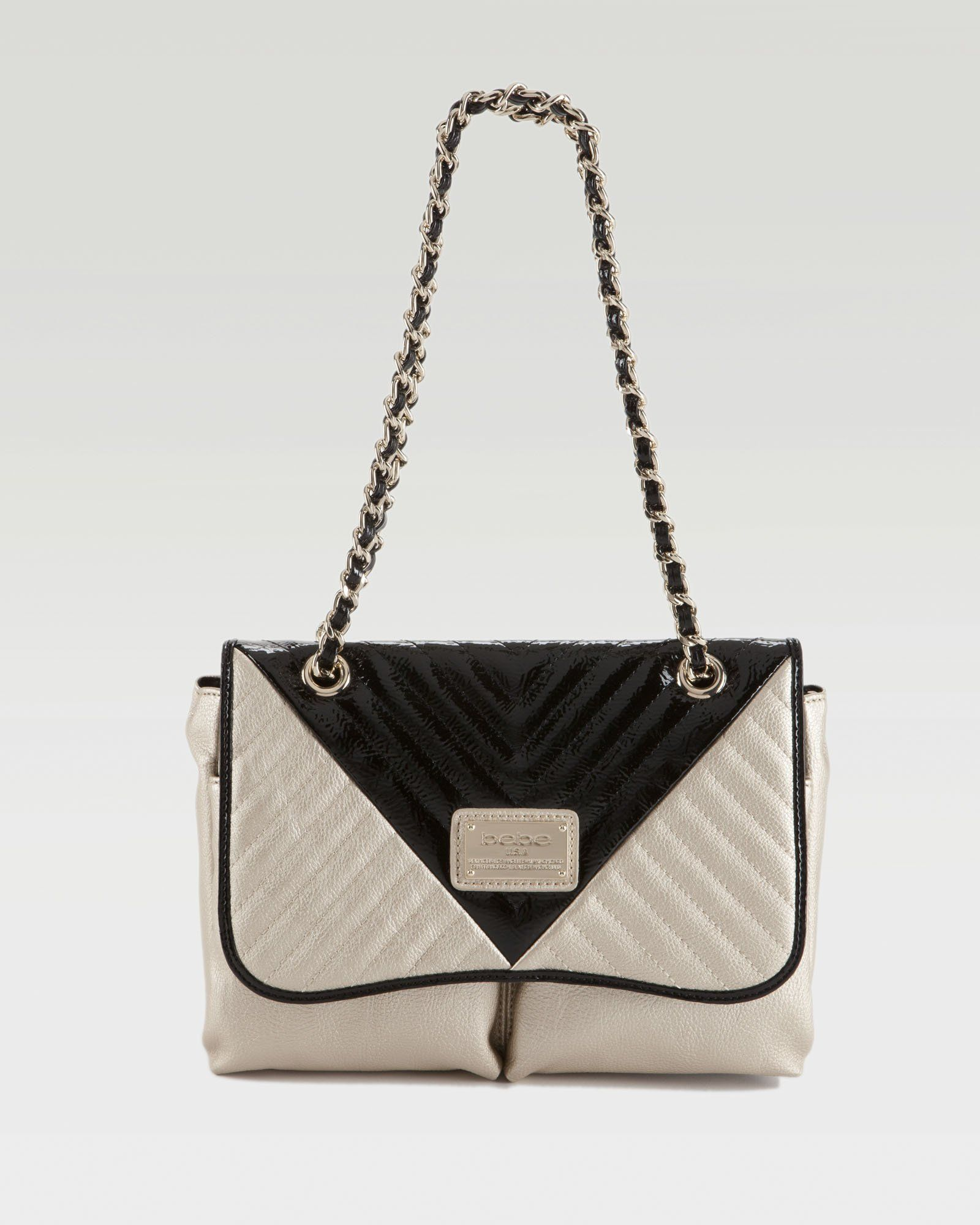 Absolutely loving the contrast {bebe | Colorblock Quilted Shoulder Bag}