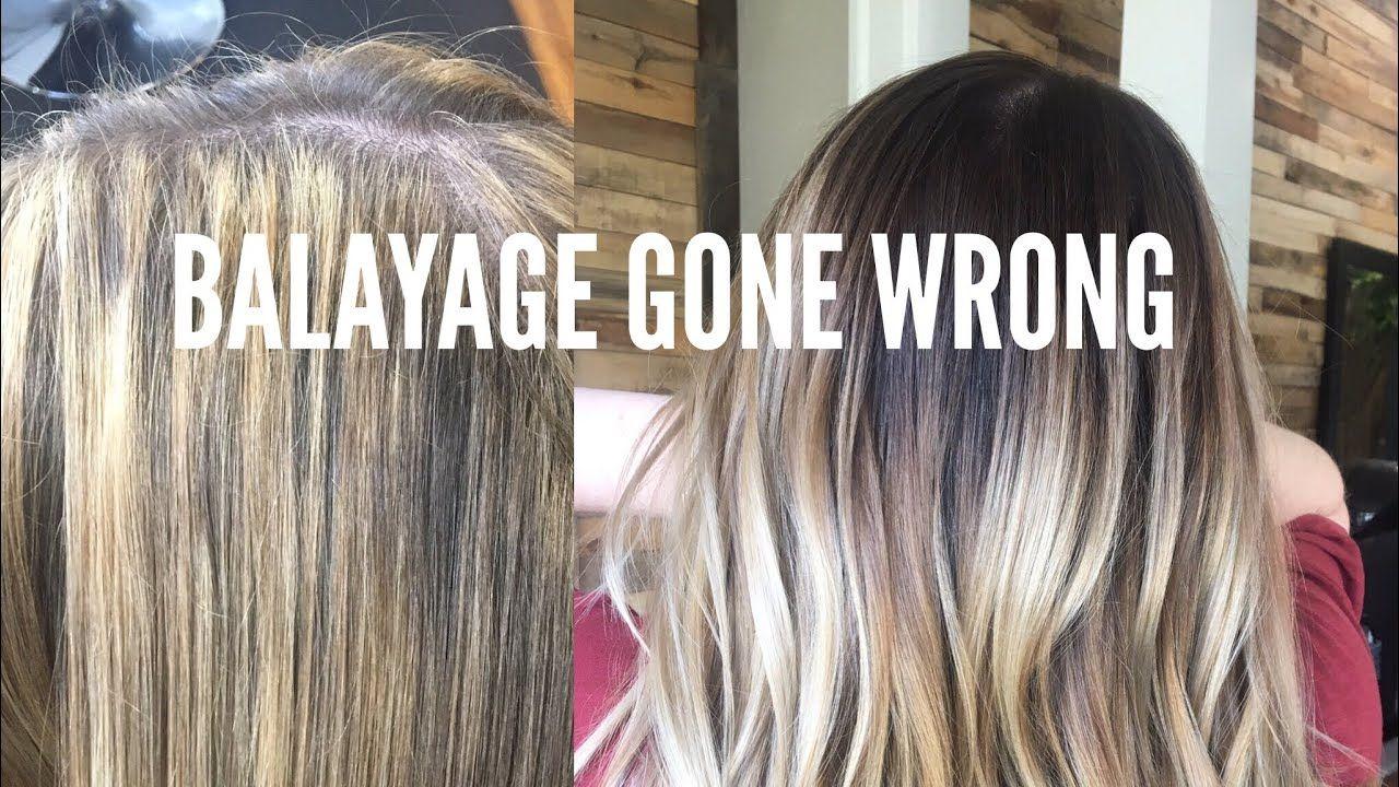 Balayage Gone Wrong Color Correction Hair Tutorial Youtube Color Correction Hair Hair Color Techniques Balayage