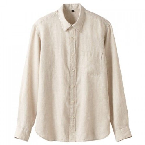 muji french linen washed shirt apparel shirts white. Black Bedroom Furniture Sets. Home Design Ideas