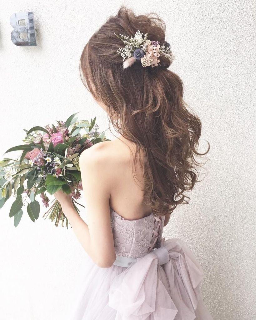 花嫁 髪型 サイド ダウン 花嫁 髪型 花嫁 結婚式 ドレス ヘア
