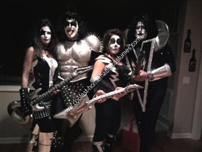 homemade kiss group halloween costume love the rock band kiss wanted our costumes this - Band Halloween Costumes