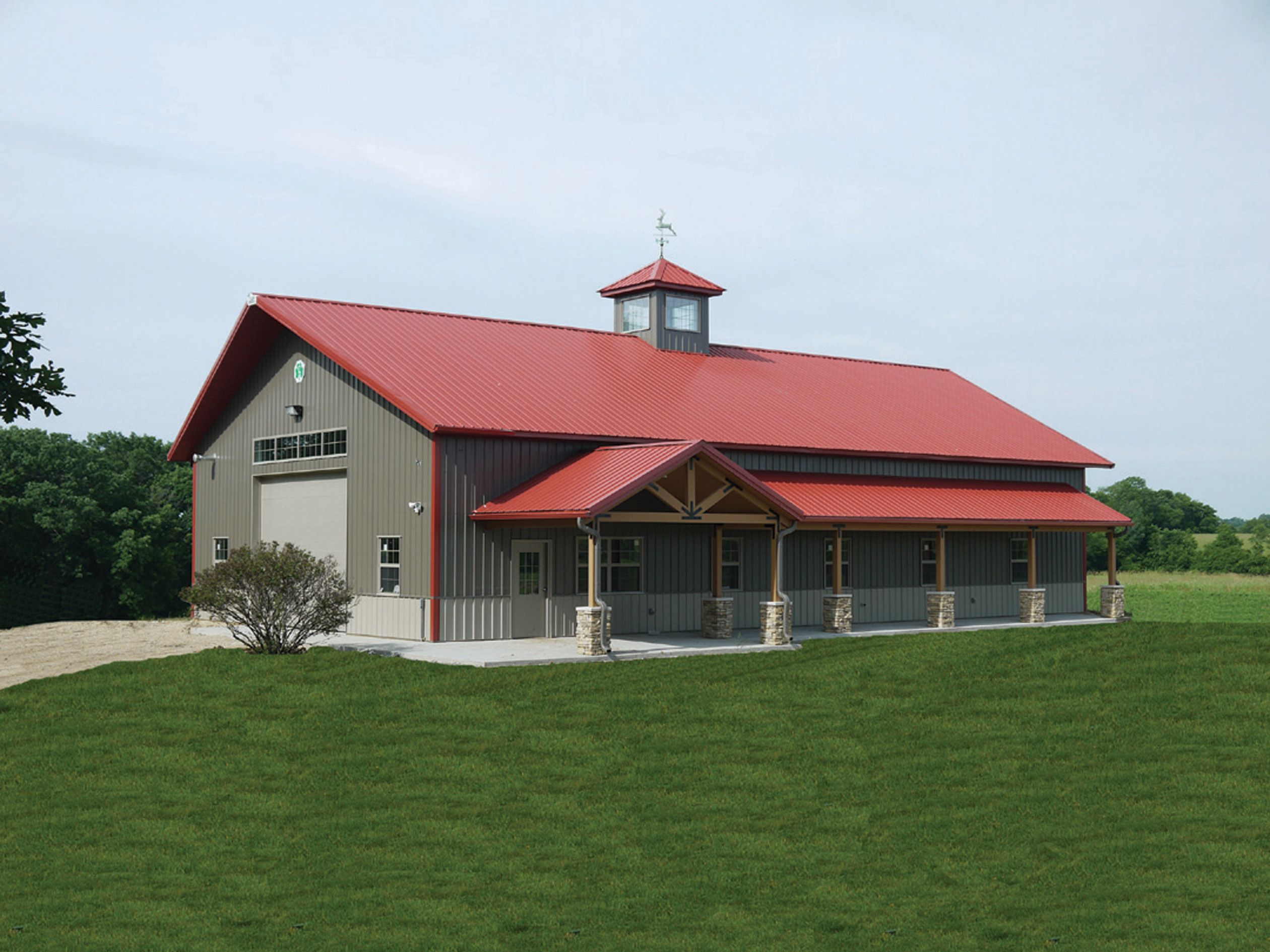 A fabulous building just outside of verona wi cleary for Barn house plans kits