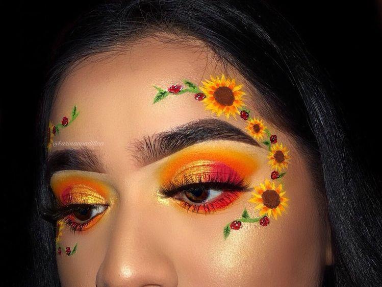 Pinterest Sadlittlebean With Images Flower Makeup