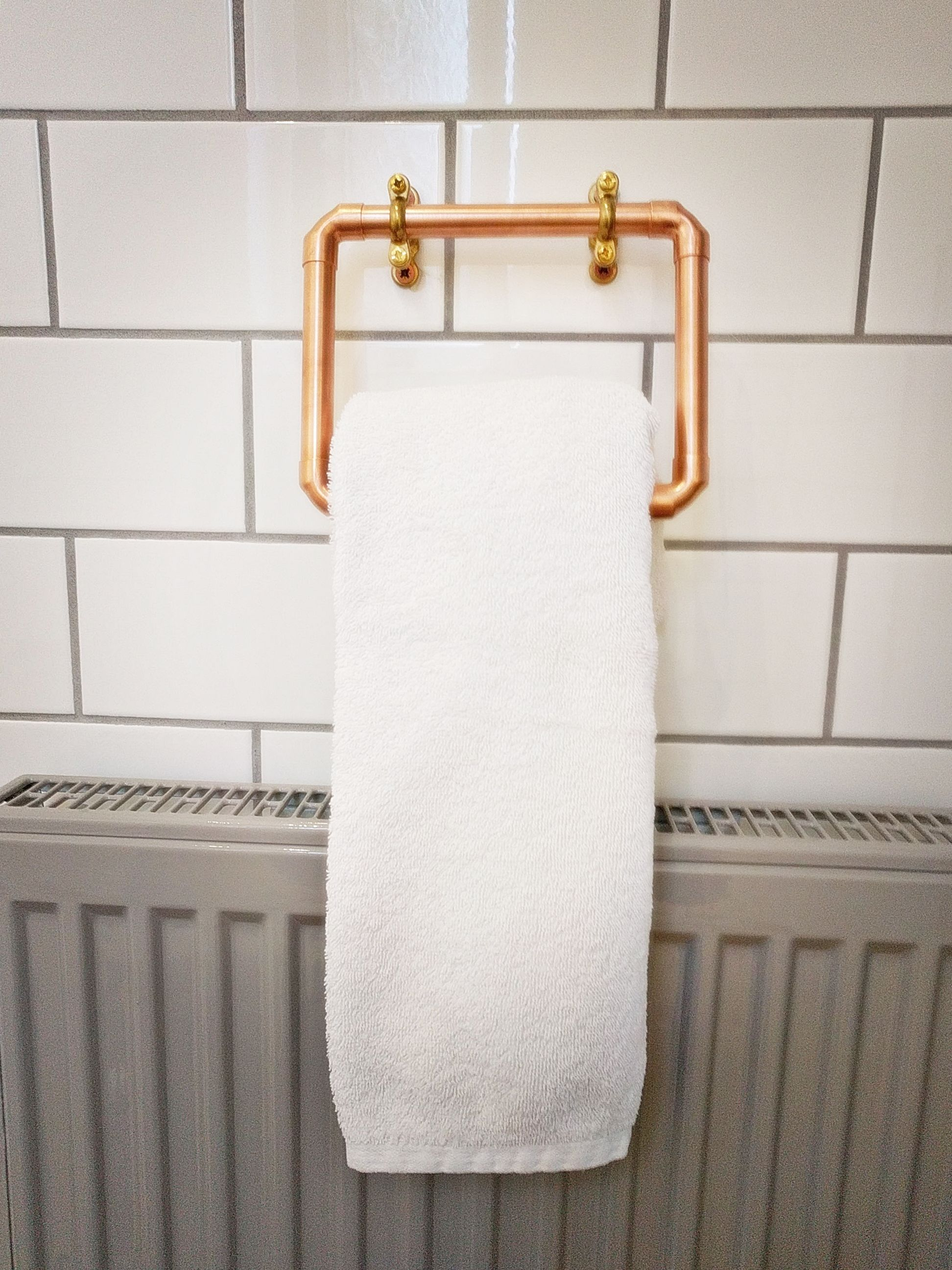 Hand Towel Holder A Real Steam Punk Statement Piece Copper Bathroom Accessories Hand Towel Holder Rustic Towels