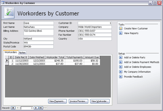 work order database template koni polycode co