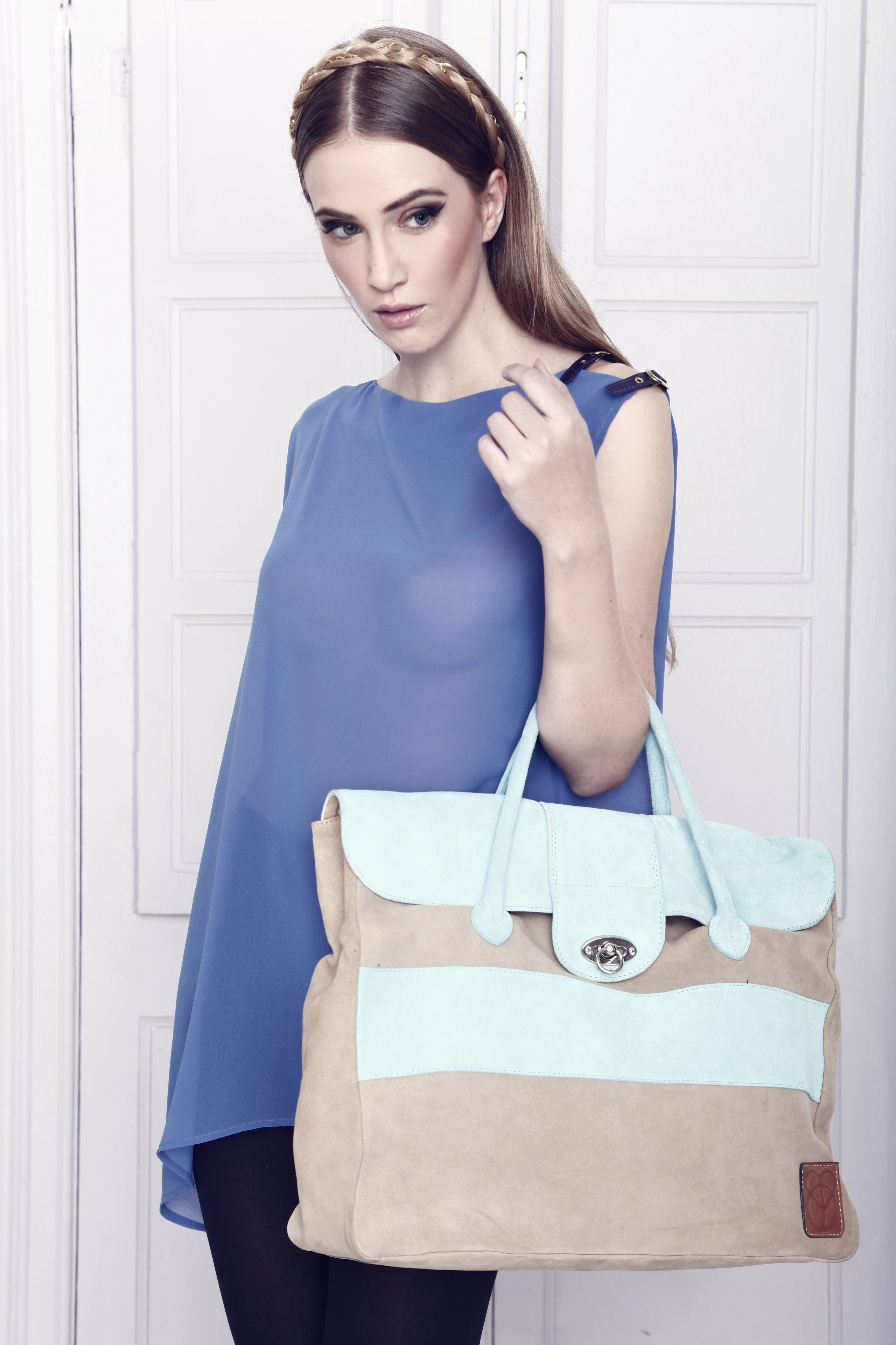 A/W 2013. Chiffon. and leather bag
