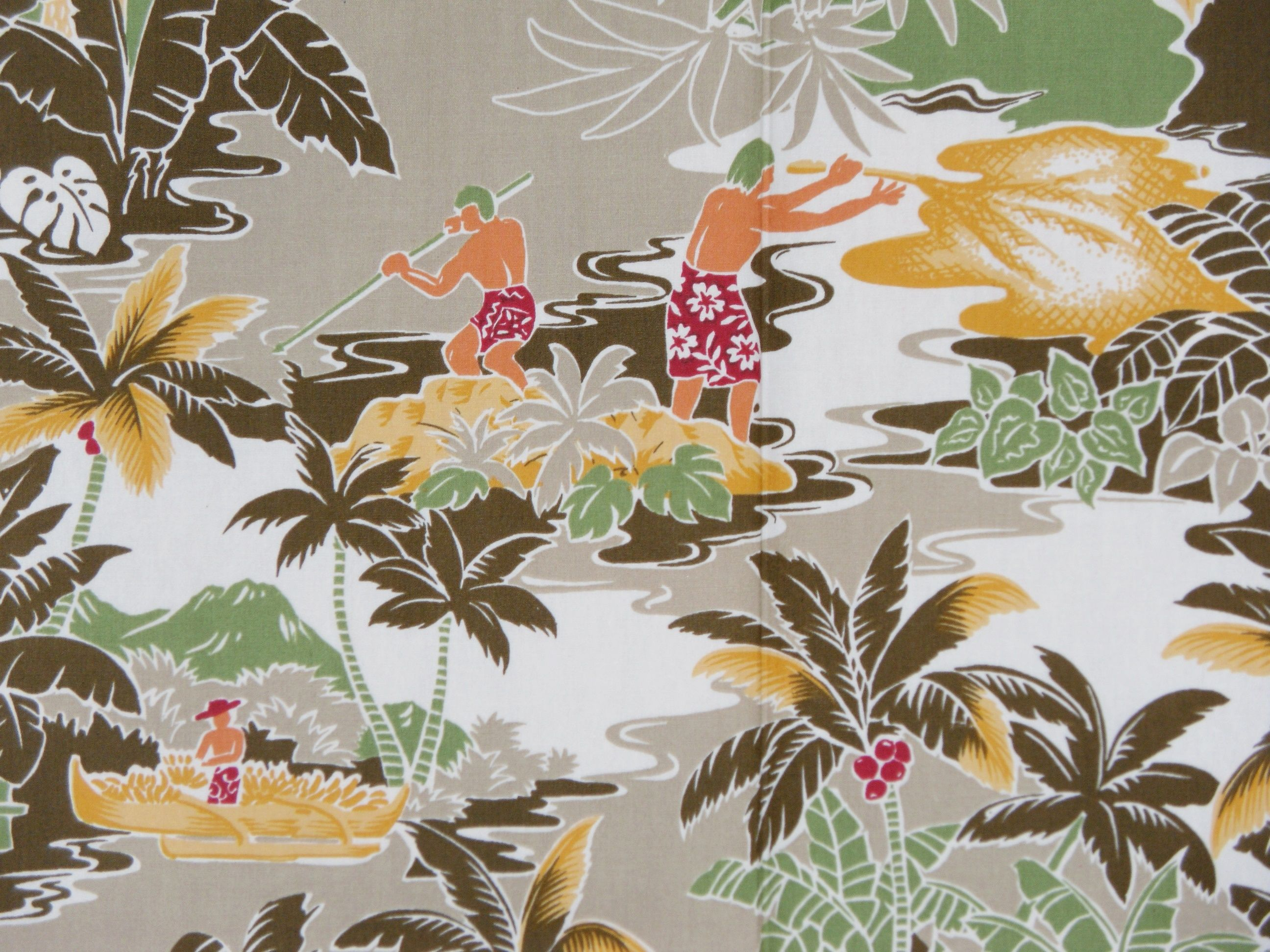 Classic island themed Hawaiian fabric for the 'must have