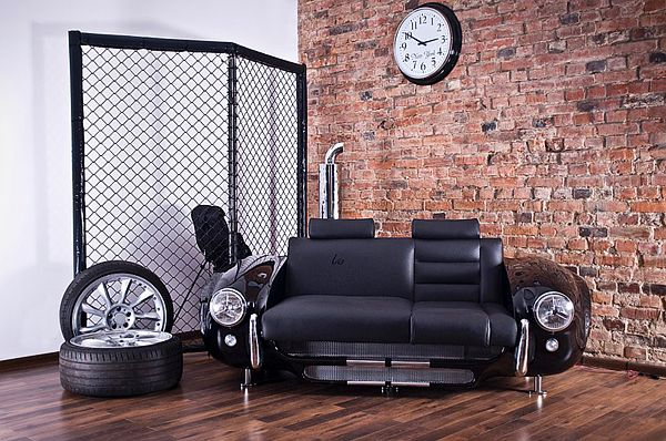 Retro Auto Möbel Designs Sofa Leder Lackiert Stilvoll Auto Teile