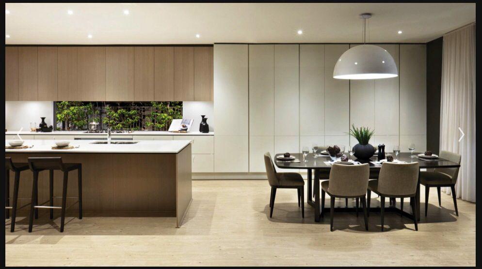 Floor To Ceiling Cupboards Seamless Flow From Kitchen Contemporary Kitchen Kitchen Interior Kitchen Design