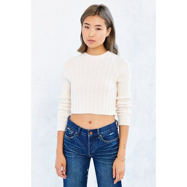 BDG Casey Rib-Knit Cropped Sweater ($35) ❤ liked on Polyvore ...