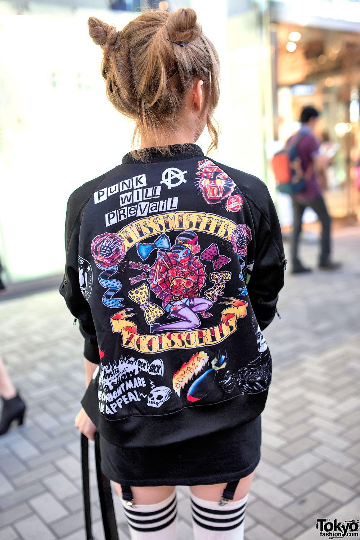 Miss Misfits Bomber Jacket By Kobinai Harajuku Fashion Japanese Street Fashion Fashion [ 1500 x 1000 Pixel ]